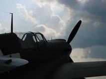 Lutador belamente restaurado de WWII Curtiss P-40 Warhawk foto de stock royalty free