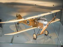 Lutador de Austro-húngaro Albatros Oeffag DIII fotos de stock