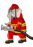 Lutador de incêndio ilustração royalty free