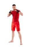Lutador de Kickbox na posição do protetor Imagem de Stock Royalty Free
