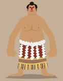 Lutador de Sumo Ilustração Royalty Free