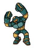 Lutador do Cyborg Imagem de Stock Royalty Free