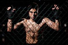 Lutador do Muttahida Majlis-E-Amal de Fearles pronto para lutar fotografia de stock royalty free