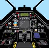 Lutador Jet Cockpit Fotografia de Stock Royalty Free