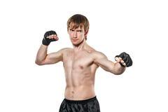 Lutador marcial misturado pronto para lutar Fotografia de Stock