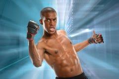 Lutador misturado das artes marciais Fotografia de Stock Royalty Free