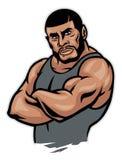 Lutador muscular braço cruzado Imagens de Stock Royalty Free