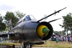 Lutador polonês do ataque Su-22M4 em Radom Airshow, Polônia fotos de stock royalty free