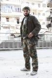 Lutador sírio livre do exército, Aleppo. Imagens de Stock