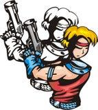 Lutadores 15 do Anime. ilustração stock