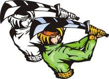 Lutadores 28 do Anime. ilustração do vetor
