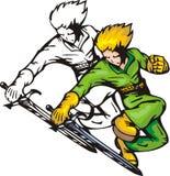 Lutadores 29 do Anime. ilustração royalty free