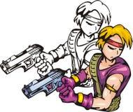 Lutadores 3. do Anime. ilustração royalty free