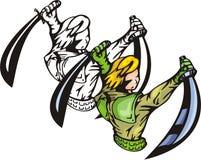 Lutadores 30 do Anime. ilustração royalty free