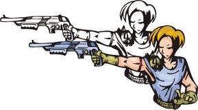 Lutadores 4. do Anime. ilustração royalty free