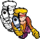 Lutadores 8. do Anime. ilustração royalty free