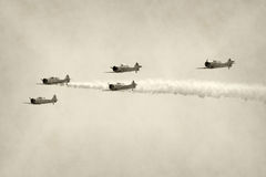 Lutadores da segunda guerra mundial fotos de stock