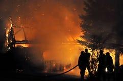 Lutadores de incêndio Fotografia de Stock Royalty Free