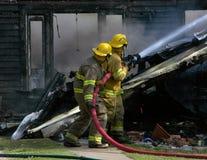 Lutadores de incêndio Foto de Stock Royalty Free