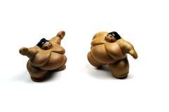 Lutadores de Sumo Fotografia de Stock Royalty Free