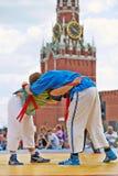 Lutadores na lona no primeiro competiam do Todo-russo Imagens de Stock