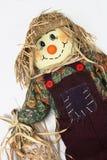 lutande höger scarecrow Arkivfoto
