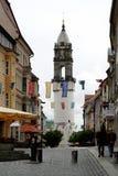 Lutande torn av Bautzen i Tyskland Fotografering för Bildbyråer