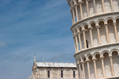 Lutande torn av Pisa Royaltyfri Bild