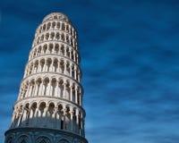 Lutande torn av Pisa Arkivfoto