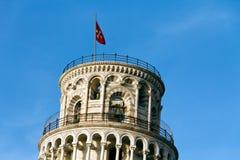 Lutande torn av Pisa i Tuscany, Italien Arkivbilder