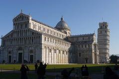 Lutande torn av Pisa, Italien berömd gränsmärke Royaltyfri Fotografi