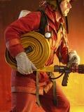 Lutando o incêndio. Imagem de Stock Royalty Free