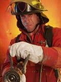 Lutando o incêndio. Fotografia de Stock Royalty Free