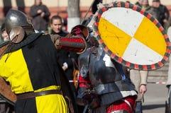 Lutas dos cavaleiros Fotografia de Stock