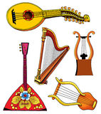 Lute lira harp balalaika musical instrument Stock Photo