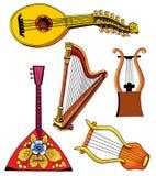 Lute lira harp balalaika musical instrument Stock Photo