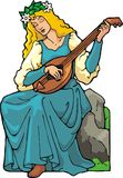 Lute Player Stock Photography