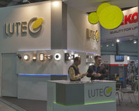 Lutec Australian company booth Stock Photo