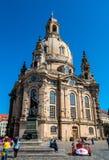 Luterański kościół Frauenkirche w Drezdeńskim, Niemcy fotografia royalty free