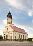 Luterański kościół w Kekava Latvia Obraz Royalty Free