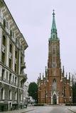 Luteriska Rigas Veca Svetas Gertrudes Evangeliski baznica St. Gertrude Old Church - Kirche der evangelischen lutherischen Kirche Lizenzfreie Stockfotografie