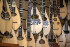 Lutes, Typical greek instrument, in a store in Athens, Greece Stock Photo