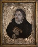 luther马丁 古老绘画从1650-1675 免版税库存照片