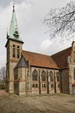 Luther church in Georgsmarienhuette, Evangelical Lutheran Church from 1877, neo-gothic style church in Germany Stock Photography