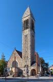 Luther Church a Karlsruhe, Germania fotografia stock libera da diritti