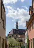 Luther city Wittenberg. Castle church in the Luther city Wittenberg Royalty Free Stock Photography