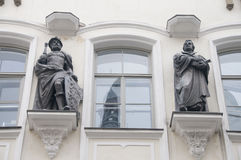 Luther and company. In Tallinn Stock Photos