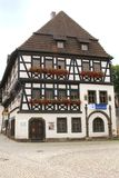 Historic Martin Luther house in Eisenach, Germany. Martin Luther house is a museum in Eisenach to remember Martin Luther who lived from 1483 until 1546 and who Stock Photos