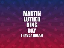 luther martin короля дня сновидение имеет I Поздравительная открытка со звездами и лучами День Mlk вектор бесплатная иллюстрация