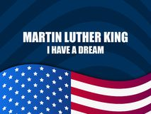 luther martin короля дня сновидение имеет I Поздравительная открытка с американским флагом вектор бесплатная иллюстрация